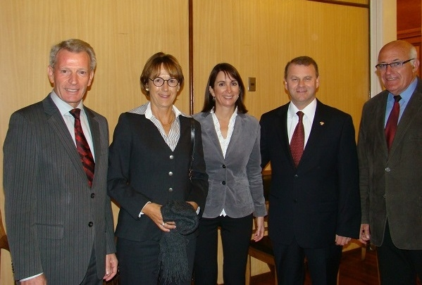 Franz Wägele, Gertie Wägele, Rosamaría Kohler, Dr. Jan Karlsruher (Cónsul Honorario de Alemania), Prof. Hans-Peter Schurz