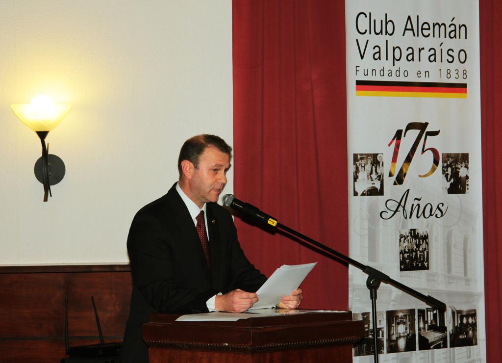 Saludo del Presidente del Club Alemán, Dr. Jan Karlsruher