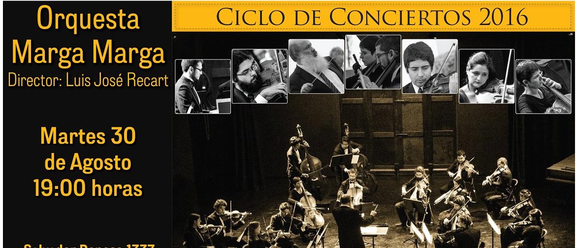 Concierto Orquesta Marga Marga, Martes 30 de agosto a las 19:00 horas