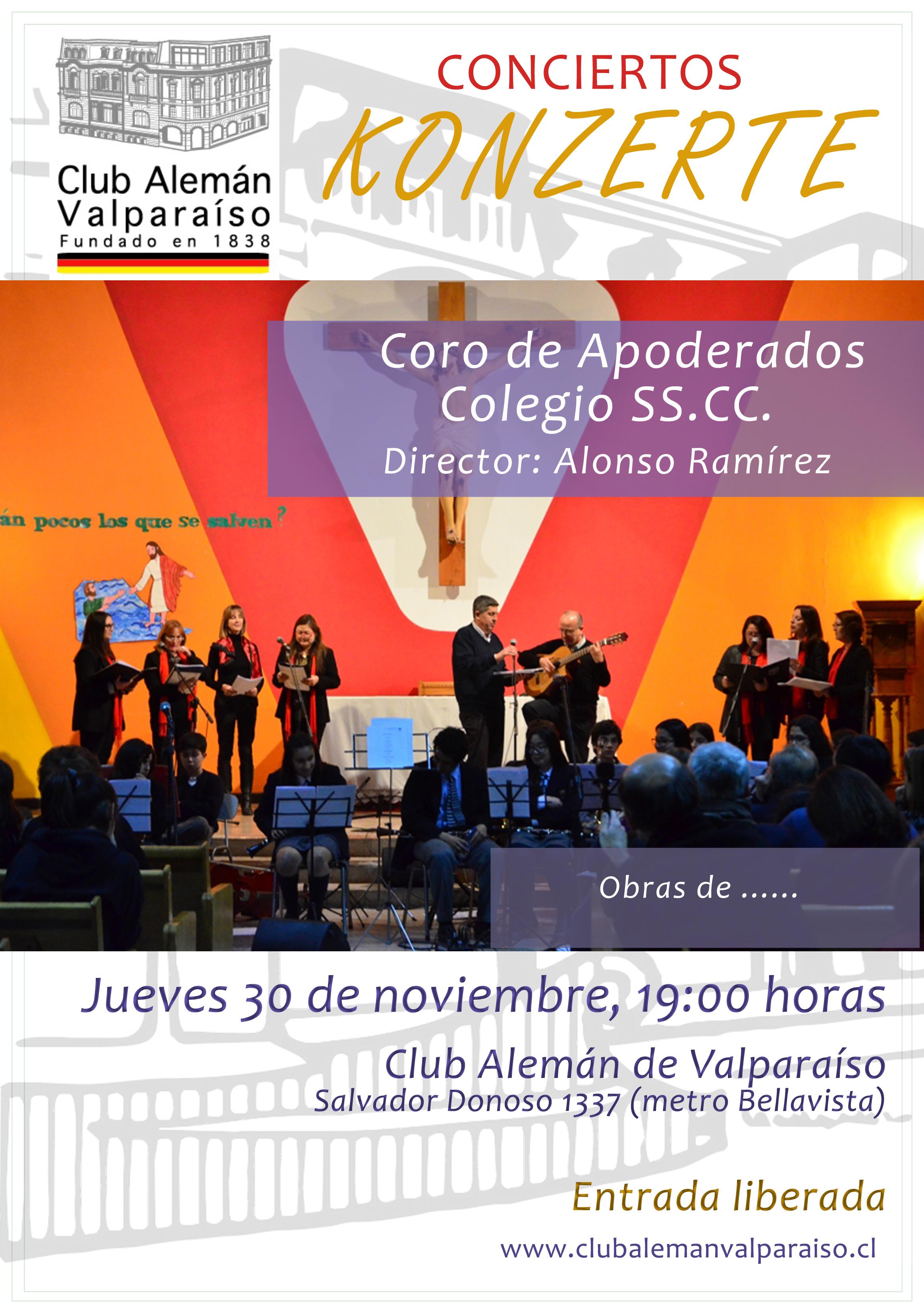 Afiche concierto Coro Apoderados SSCC