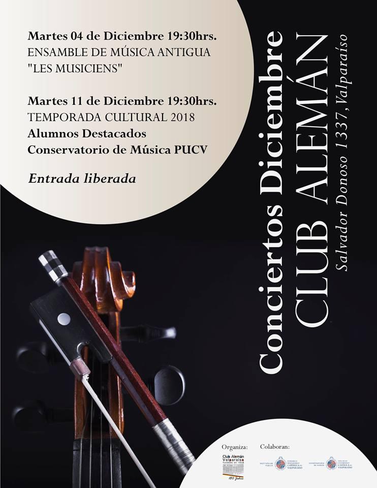 Club Alemán de Valparaíso recibirá Concierto de Alumnos destacados del Conservatorio PUCV