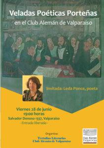 Veladas Poéticas Porteñas - Invitada: Leda Ponce