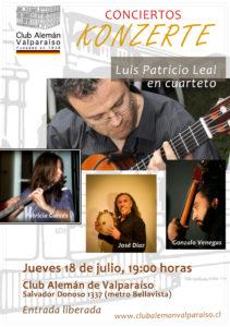 """Concierto """"Bon voyage"""" - Luis Patricio Leal en cuarteto"""