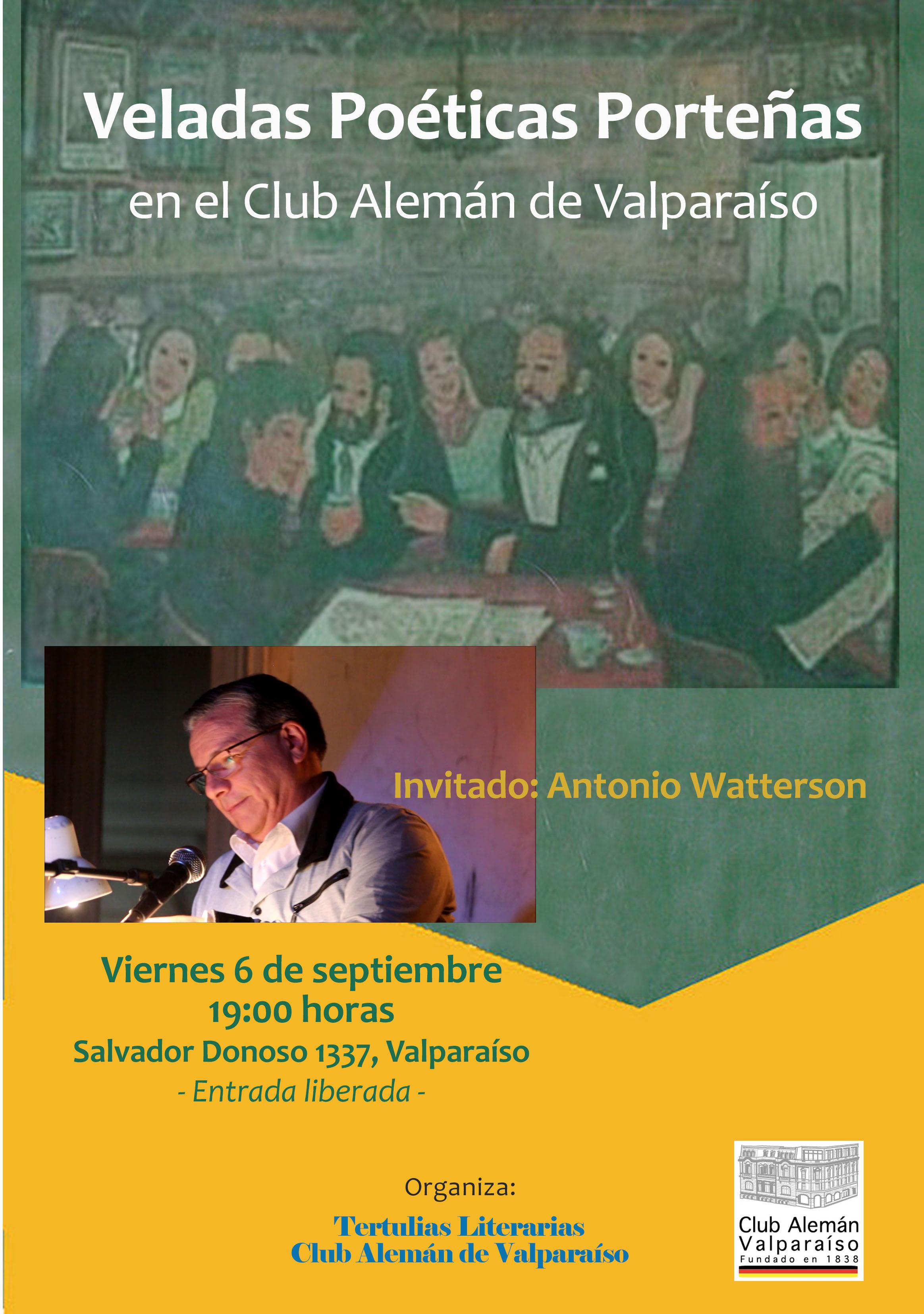 Veladas Poéticas Porteñas – Invitado: Antonio Watterson