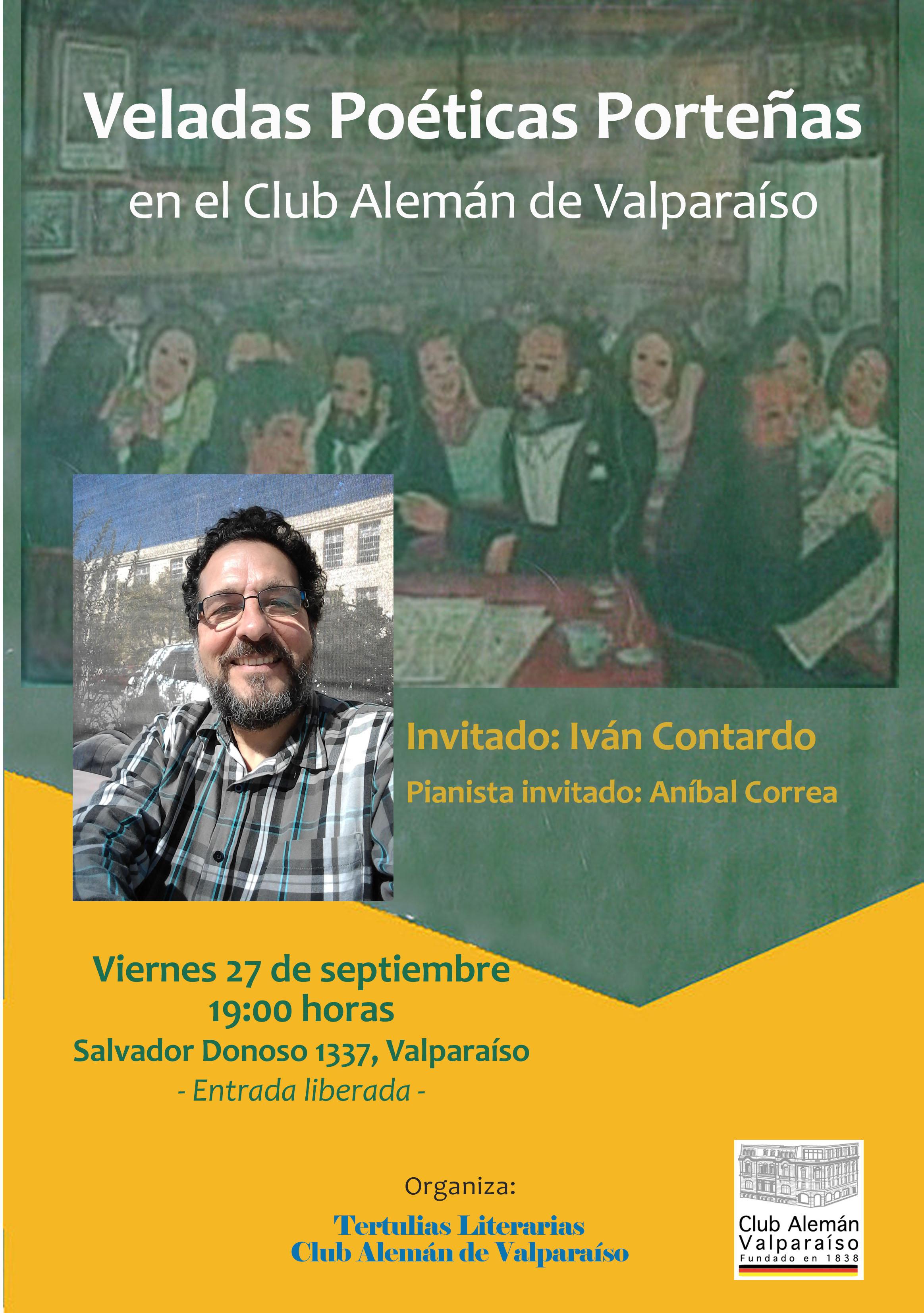 Veladas Poéticas Porteñas – Invitado: Iván Contardo