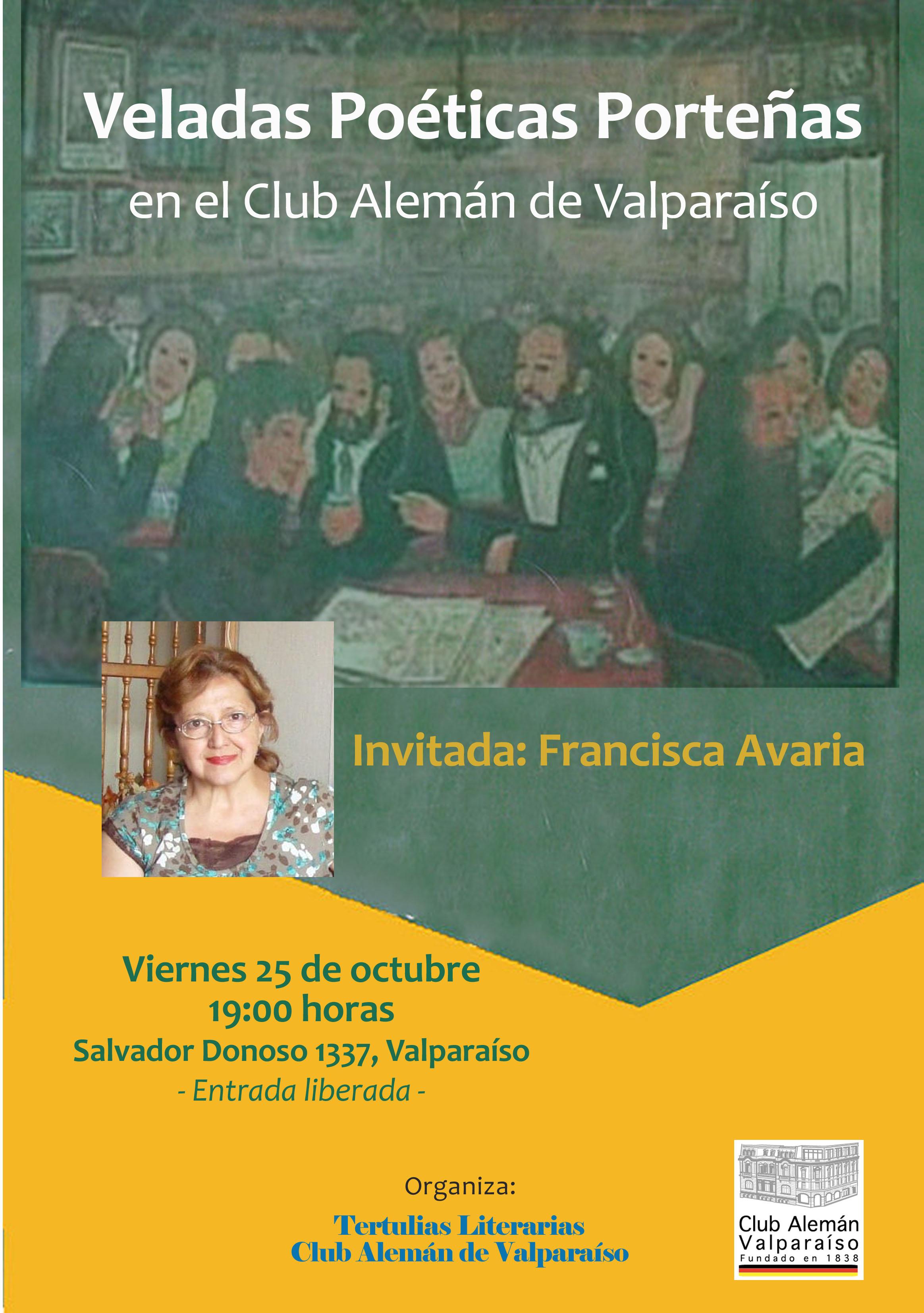 Veladas Poéticas Porteñas – Invitada: Francisca Avaria