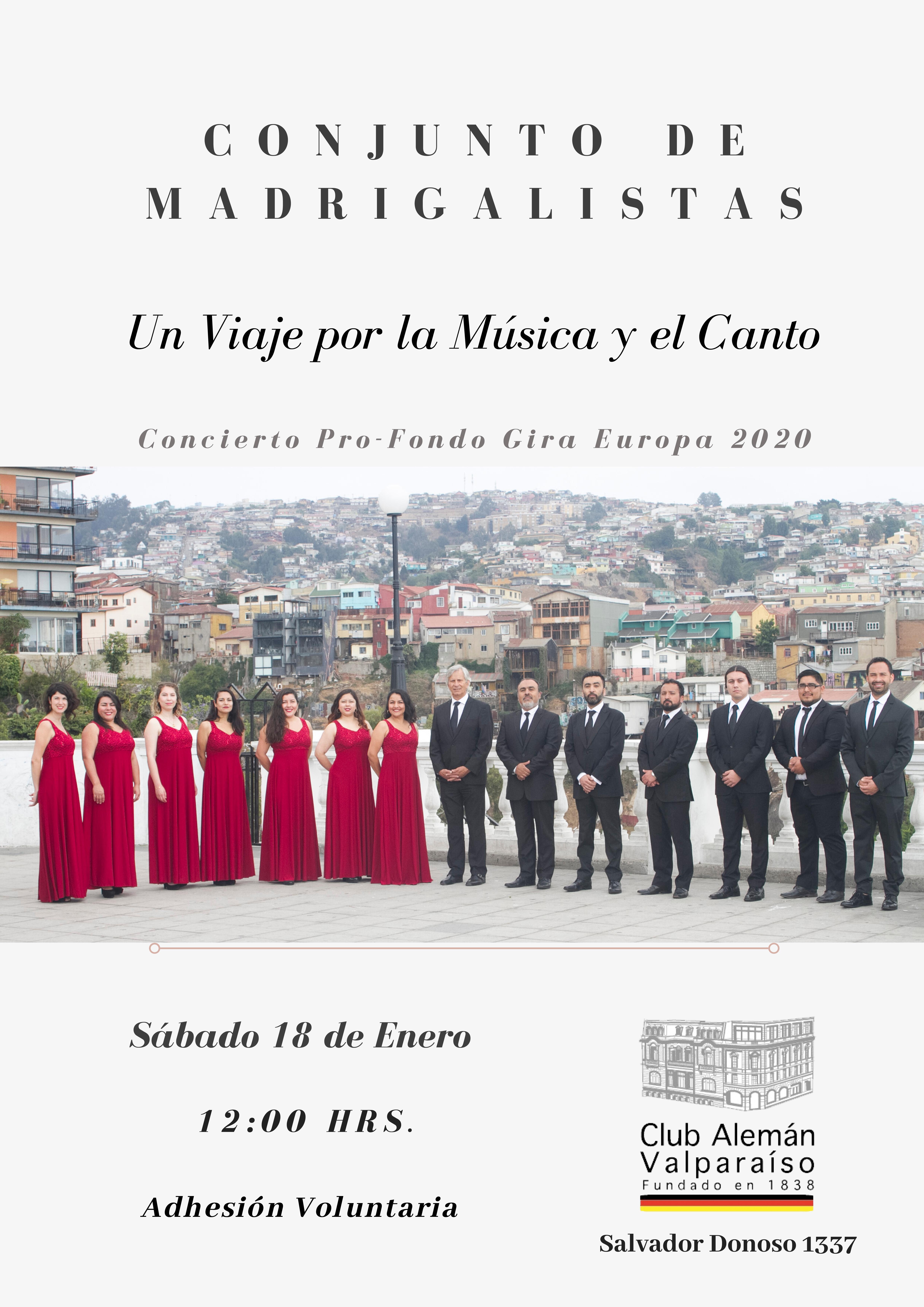 """Concierto """"Un viaje por la música y el canto"""" - Conjunto de Madrigalistas Upla"""